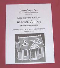 Dura-Craft  *ASHLEY* AH-130  Dollhouse Instructions