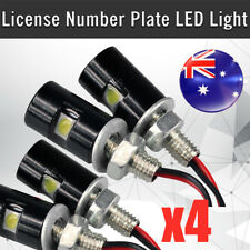 4* LED License Number Plate Light Screw Bolt Bulbs SMD For Car Motorcycle New AU