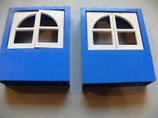 Lego 2 murs avec fenetres set freestyle /2 blue panels with white windows