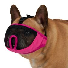 Trixie New Full Face Muzzle For Short Nosed Breed Dogs - All Sizes - Pink / Grey