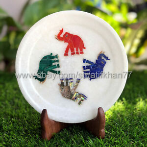 Inlay Decorative Wall Plate Good Luck Elephant Design Cake Serving Platter