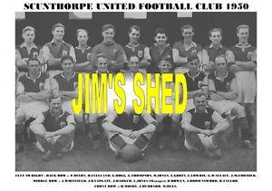 SCUNTHORPE UNITED F.C.TEAM PRINT 1950 (THOMPSON/REES)