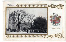 Parish Church - Croydon Photo Postcard 1906