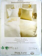 2 x Park Lane tarrington House ropa de cama set 135 x 200 cm percal blanco/amarillo nuevo