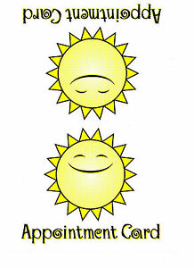 SUNBED TANNING CLIENT / CUSTOMER OWN RECORD SESSION APOINTMENT CARDS x 100