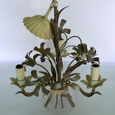 vintage  FRENCH TOLE CHANDELIER light sconce
