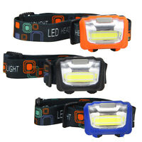 600LM Mini LED COB Linterna Frontal Head Lámpara Antorcha Luz Cabeza Headlight