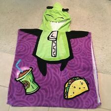 Nickelodeon Invader Zim GIR Green Poncho 2011 Viacom Hoody Beach Pool Towel