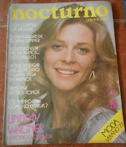 NOCTURNO magazine LINDSAY WAGNER bionic woman DONNA SUMMER MALCOLM McDOWELL 1977