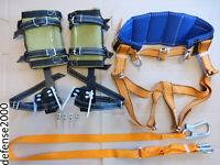 Tree Climbing Spike Set, Safety Belt With Straps, Adjustable Lanyard
