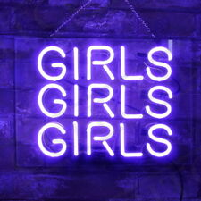 Purple Neon Sign Three Girls Party Display Nail Store Pub Night Club Beer Room