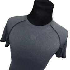 Under Armour Mens Gray Compression Short Sleeve T-Shirt Mens Medium M