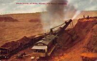 Postcard Steam Shovel Working at Mesa Iron Range, Minnesota~123317