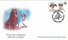 Chile 1999 FDC 50 Años Record Mundial Salto Alto a Caballo