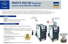 Gys magys 450 45a-regulado 3 fase Generador + alimentador De Alambre Mig Mag Con enfriado por aire