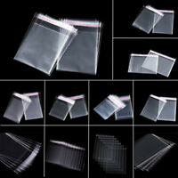 1000x Multi-Size Clear Cellophane Plastic Bag Packing Opp Self Adhesive Seal Bag
