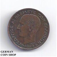 Griechenland 1 Lepton Kupfer 1869 Georg I. - Greece
