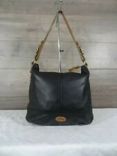 Fossil Black Leather Shoulder Bag Tote Handbag