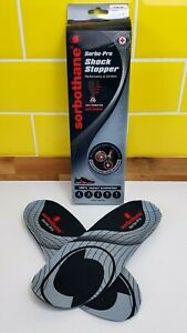 Sorbothane Sorbo Pro Shock Stopper Shoe Insoles All Sizes 3 - 12 Absorber Impact