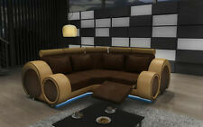 Ecksofa Sofa Couch Polster Wohnlandschaft Textil Eck Sofas Garnitur Stoff  BER-X