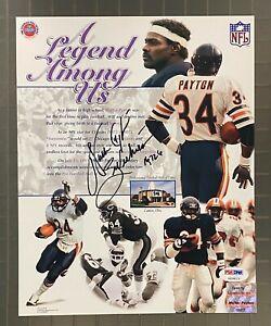 "Walter Payton "" Sweetness "" Signed 8x10 Photo AUTO PSA/DNA LOA Chicago Bears"