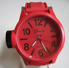 Men's Geneva Rusty Orange Silicon Band Fashion Dressy/Casual Wrist Watch