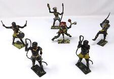 Vintage Cherilea African Warriors x 6. Toy Soldiers.
