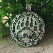 Norse Bear, Favorite of Thor, Necklace - Front & Back Have Designs Bear Totem