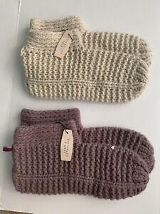 Victorias Secret Cashmere Socks Angel Sleep Super Soft M / L x 2 Pairs New