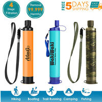 Personal Survival Water Filter Straw Purifier Filtration Camping Hking Emergency