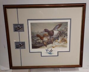 1990-91 Maryland Duck/Stamp Print. Stormy Weather By Carla Huber. NR