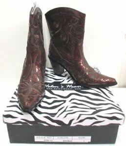 New Helen's Heart Women's Brown Sequin Western BootsSize 7