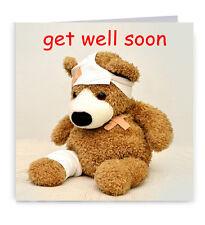 Get Well Soon Card Cute Teddy Bear