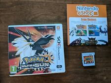 Nintendo 3DS Pokemon Ultra Sun with box, manual & game, all proceed to Alzheimer