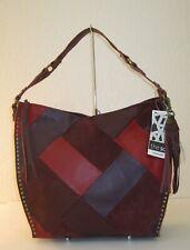 The Sak Silverlake Patchwork Cabernet Multi Leather Hobo Shoulder Bag $199