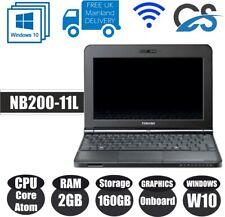 """WINDOWS 10 Toshiba NB200-11L 10.1"""" LAPTOP INTEL ATOM N550 WEBCAM 2GB 160GB HDD"""