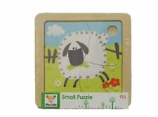 Children Wooden 4 Pieces Wise Cube Shape Sorter Sheep Creative Jigsaw Puzzle