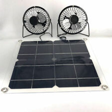 Black Twins Solar Panel Fans 10w 4Inch for Outdoors Free Energy