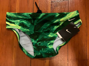 Nike NX Swimming Brief Size 30 Green