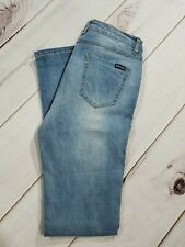 Tractor Womens Medium Faded Distressed Jeans Size 9 Inseam 32""