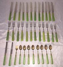 Vintage Lot FRENCH Celluloid SPROUL FRANCE Forks Sets Bakelite Green Fairchild