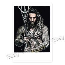 Jason Momoa / Aquaman - Justice League - Autogrammfotokarte laminiert [AK 1]