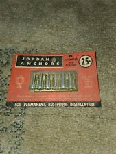 New listing Vintage Jordan Anchors New In Box 25 Cents Old Hardware Fasteners Nos