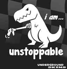 I am unstoppable t rex dinosaur Car Sticker Funny VW dub Bumper Window Decal