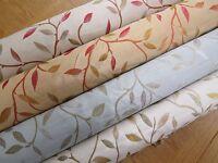 Alchemy Small Leaves Silk Look Designer Curtain Fabric Premium Quality