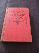 MRS BEETON'S COOKERY BOOK c1915 vintage recipe cooking