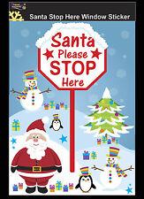 Babbo Natale Stop Qui Firmare Finestra Sticker Decorazione di Natale bambini finestra decoratio