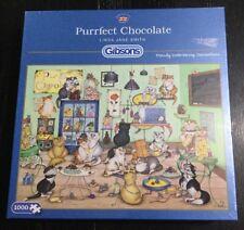 Scellé Gibson Puzzle Linda Jane Smith 1000 Piece Puzzle Crazy Cat Purr chocolat