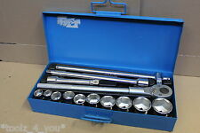 "New Unior 14 Piece 3/4"" Drive Metric 22mm - 50mm Socket Set In Tin"