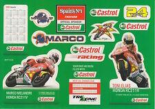 Marco MELANDRI E TONI ELIAS CASTROL Racing Adesivi.